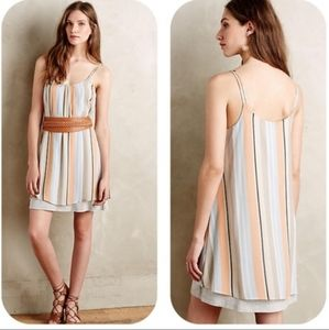 ANTHROPOLOGIE DOLAN Laurel Stripe Swing Dress